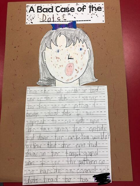 literature connection, art extension, sentence starters, student writing samples, narrative