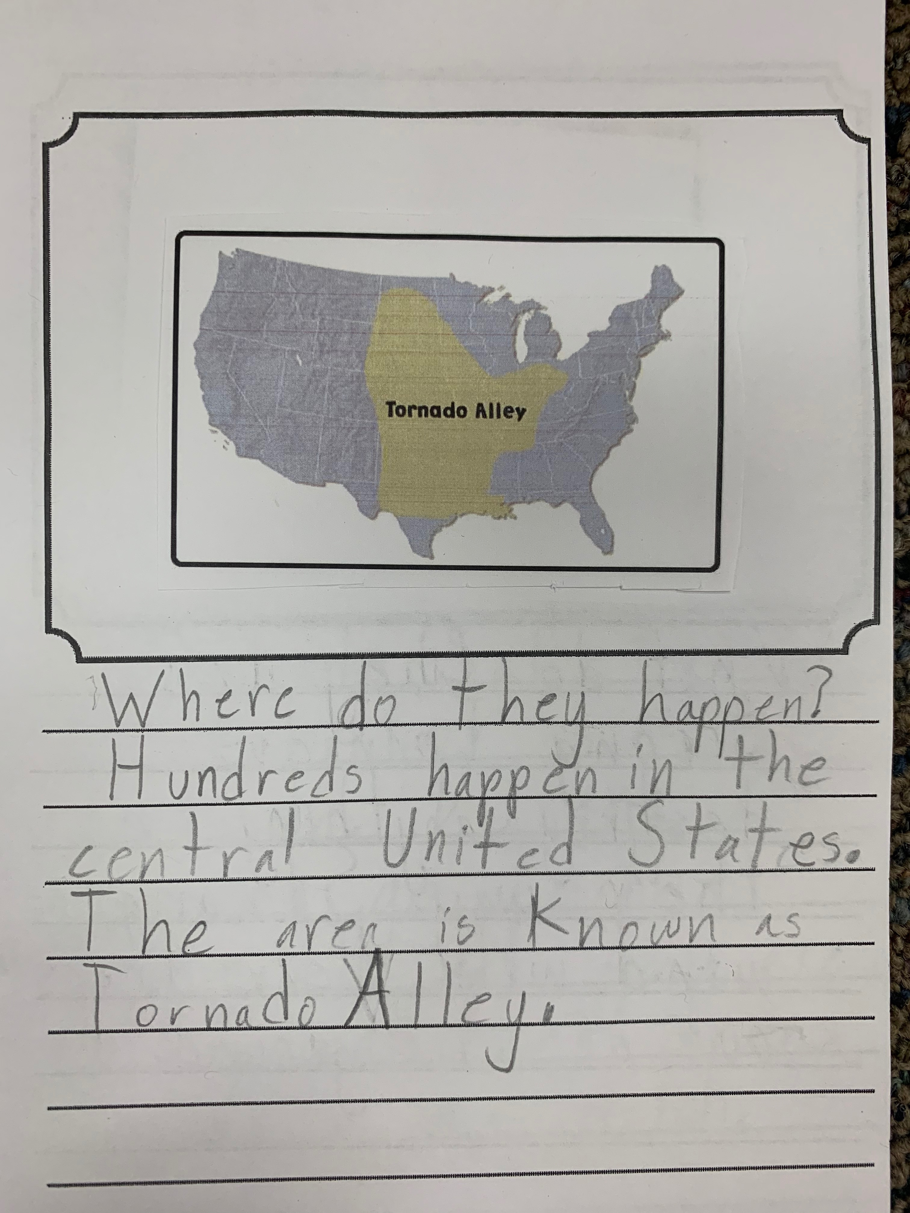 expository, information, writing sample, science, grade 2, charts, images
