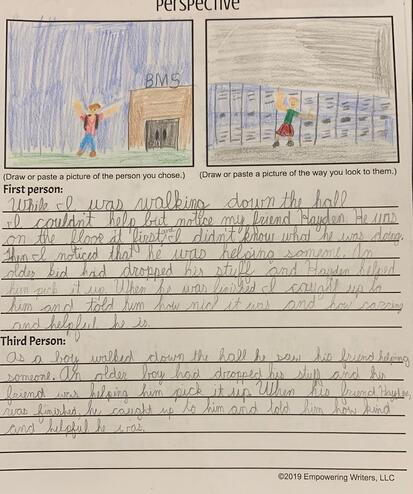 social-emotional, modeling, charting, point of view, perspective, writing samples