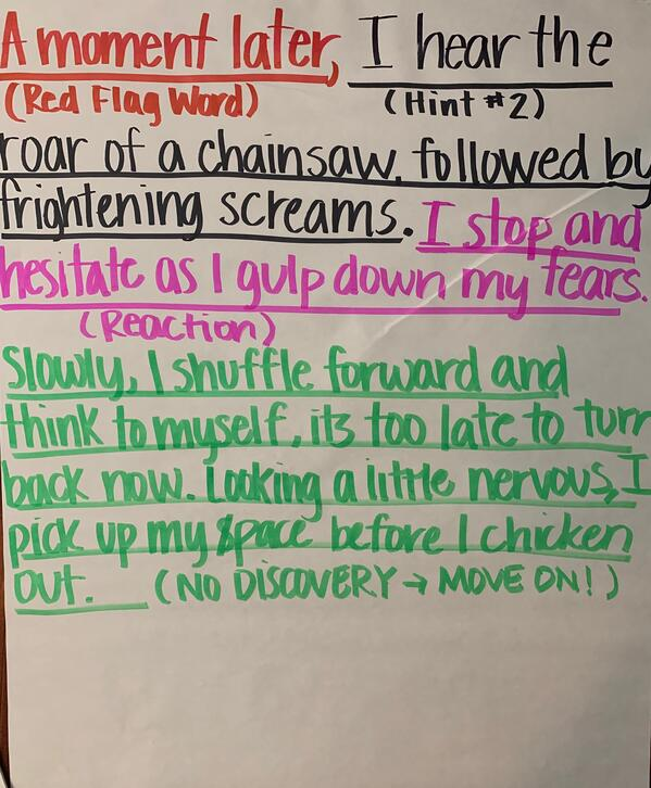 Magic of Three, Red Flag Words, Description, Suspense and Senses
