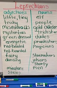 word referent, descriptive segment, sentence variety, grade 2