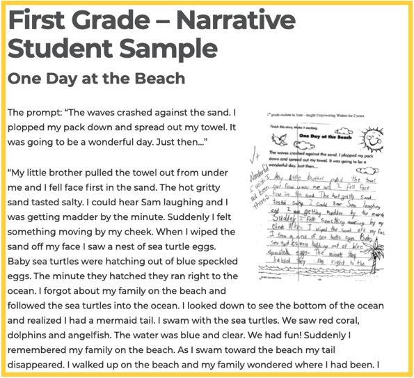 Narrative Writing - Student Samples by Grade Level