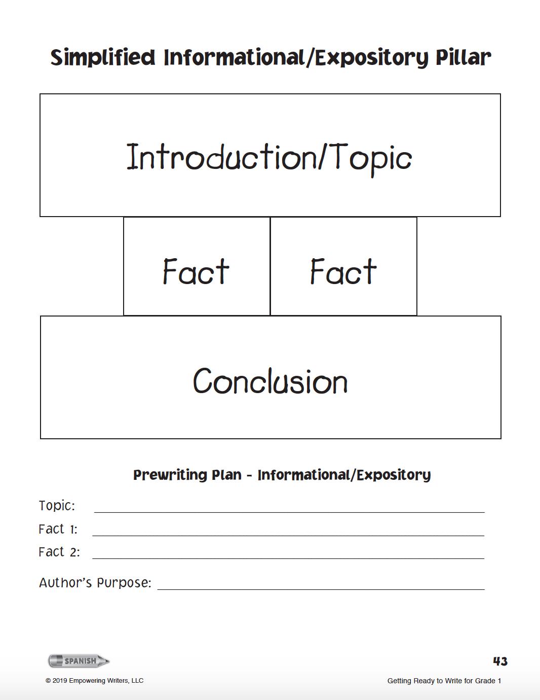 The Simplified Informational Pillar